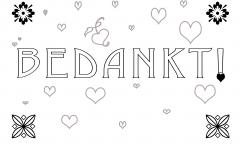 gevouwen bedankkaart – dekenaat Genk
