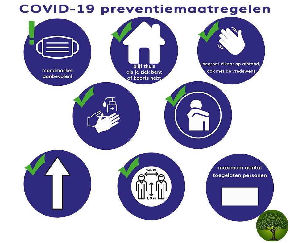 COVID-19 preventiemaatregelen – dekenaat Genk